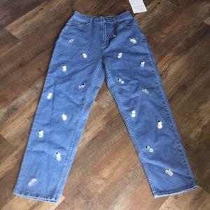 Ladies snowman jeans